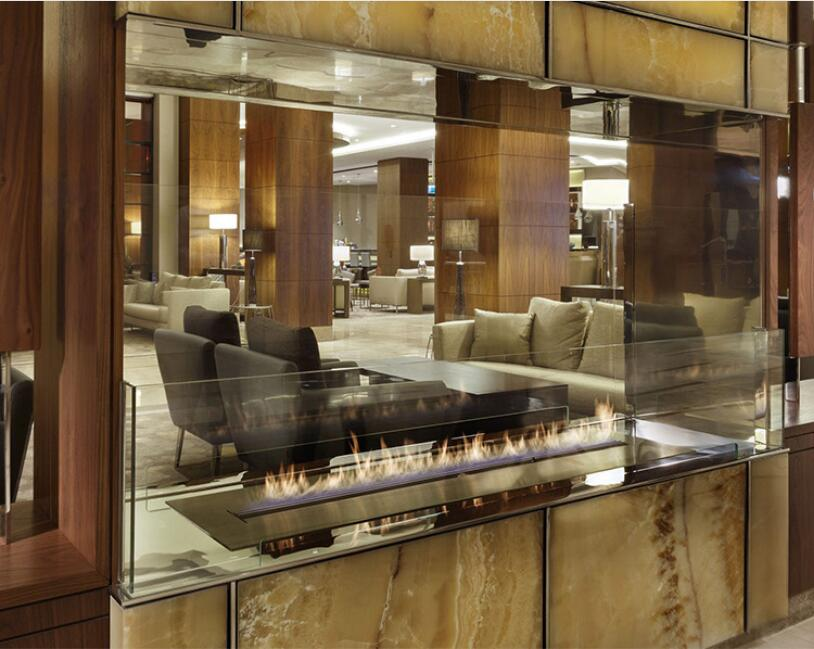 24 Inch Real Fire Automatic Intelligent Smart Indoor Bioethanol Fireplace