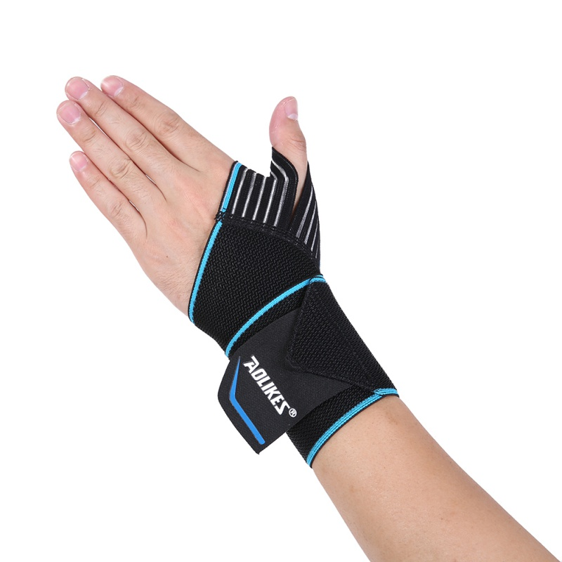 AOLIKES 1pc Sports Wrist Band Wrist Support Strap Wraps Hand Sprain Wraps Bandage Fitness Training Safety Hand Bands practical wrist strap fitness gym fitness strap hand peace fingers palm wrist protector dumbbells horizontal bar sports gloves