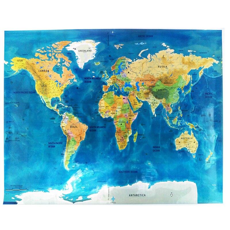 Παγκόσμιος χάρτης Ξυστό μακριά - Διακόσμηση σπιτιού - Φωτογραφία 2