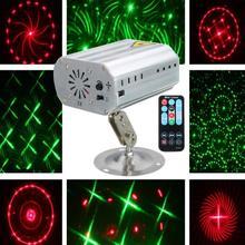 Controllo vocale di Musica Ritmo Luce del Flash LED Proiettore Laser Della Fase Della Discoteca del DJ Della Luce Club Del Partito di Dancing Luci di Effetto di Fase di Illuminazione