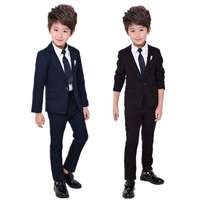 Flower Boys Formal Blazer Suit Wedding Kids Jackets Shirt Pants Clothing Set Children Prom Costume Dress