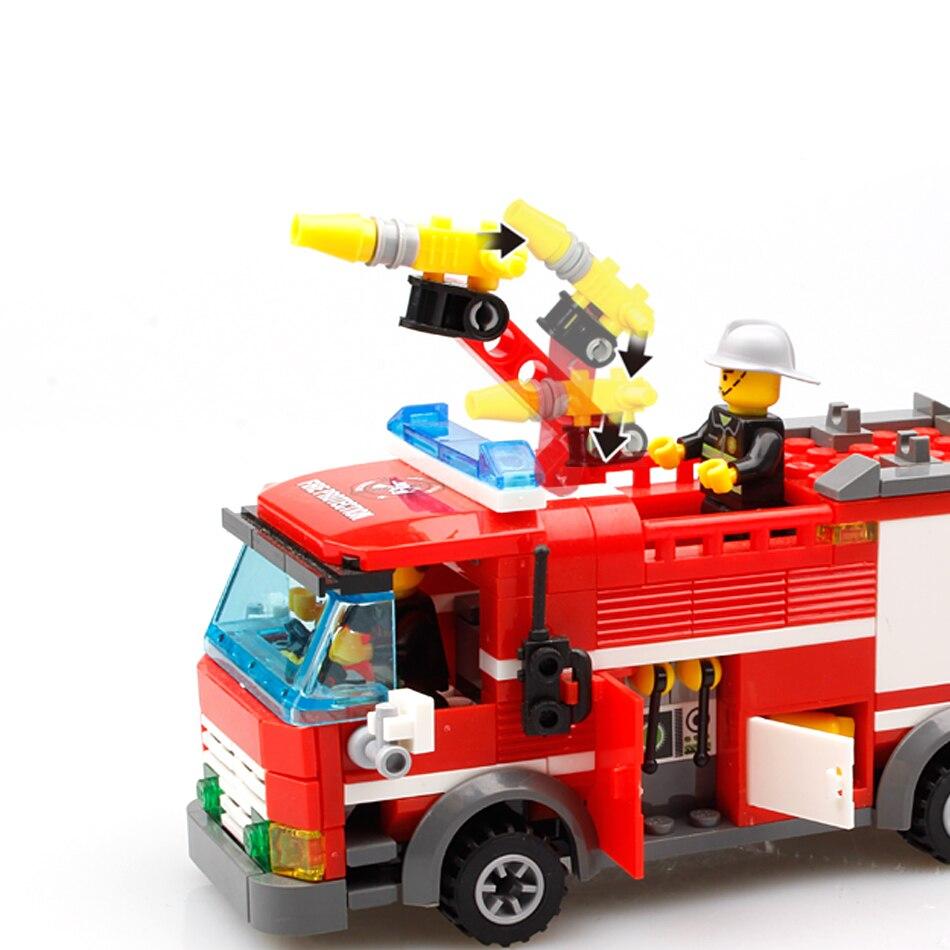 206st FireTruck Building Blocks Kompatibel Legoed City Brandmän - Byggklossar och byggleksaker - Foto 4