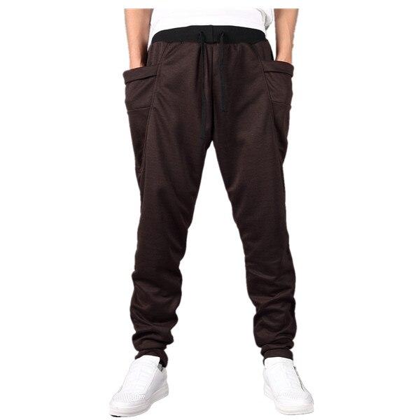 Штаны-шаровары Новые стильные модные повседневные обтягивающие спортивные штаны брюки с заниженным шаговым швом Мужские штаны для бега Sarouel