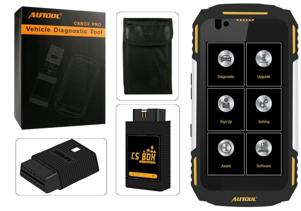 AUTOOL CS BOX Pro WiFi Multi di Diagnostica del Sistema con Quad core Android 5.1 IP67 Piattaforma di Lavoro di Acqua A Prova di Urti Polvere