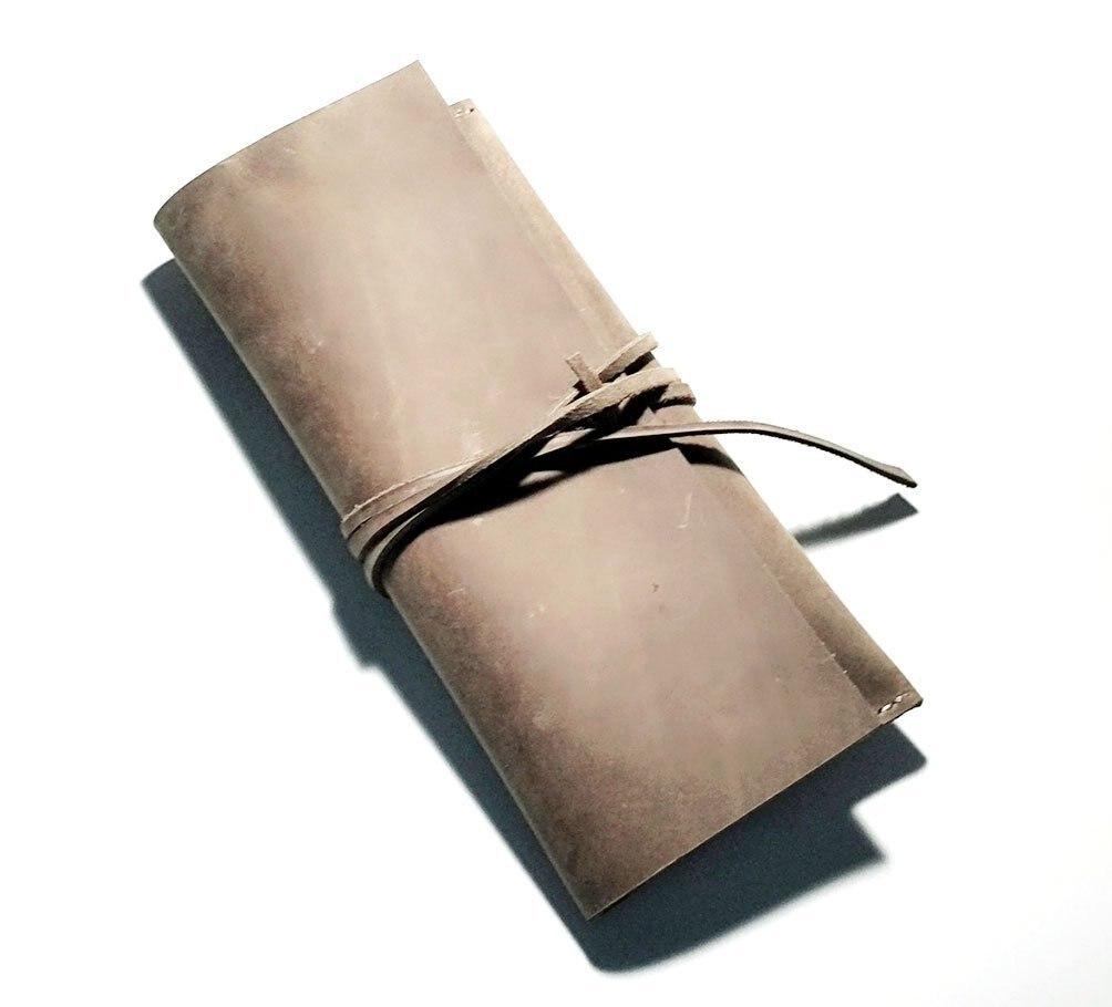 Натуральная кожа ручки Пенал Держатель Защитный Проведение Box сумка Контейнер для хранения перьевая ручка шариковая ручка ручной работы
