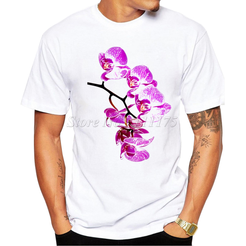 2017 New Brand Summer Men T Shirt China Style Tshirt Fitness Chrysanthemum Orchid Bamboo Plum Color Print Unique Tee