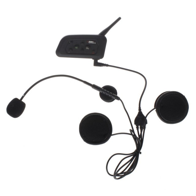 2 unids motocicleta manos libres Bluetooth intercom 1200 M full duplex hablar 4 jinetes estéreo con Radio FM