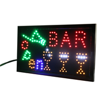 CHENXI 33 Styles New Led Bar Light Board Signs PVC Frame Window Display 10X19 inch Indoor for Beer Pub Drinking Store Business
