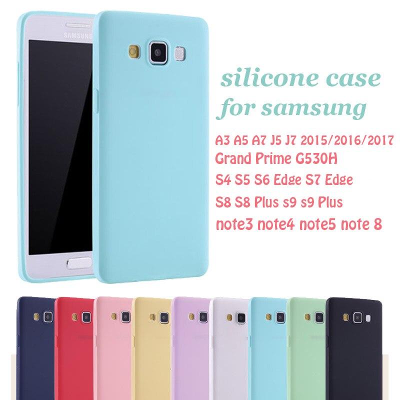 Silicone-Case S7-Edge S8 Note 8 Grand-Prime S9-Plus Samsung Galaxy S5 For A3 A5 A7 J5