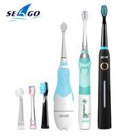 Set Família Escova de Dentes Elétrica SEAGO Inteligente Escova de Dentes Recarregável Escova de dentes Sónica Eletrônico Dental Escova Elétrica da Gengiva Saudável