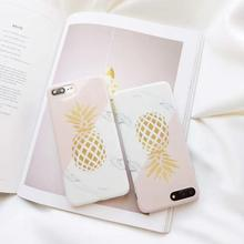 Fashion Veined Marble Phone Case For iPhone Xr X XS Max Nordic Style Fruits Patterned Shell For iPhone 6 7 8 6S Plus Soft Cover nmc nanma slight bend lightly veined jelly vibe 8 розовый реалистичный вибратор