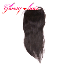Rosa Hair Products With Closure Brazilian Virgin Hair Straight  Silk Closure Tissage Bresilienne Closure Sexy Formula Hair