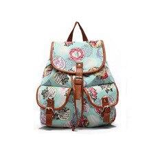 Новый Корейский Девушка Сумка Цветок Холст Drawstring Мода Досуг Школа Женщины Путешествия Сумка