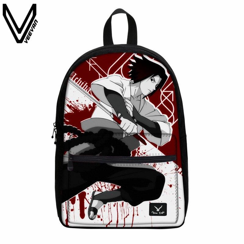VEEVANV Anime Naruto Canvas Backpack Write Round Eyes Cartoon font b School b font font b