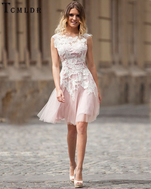 Tcmldr 2016 Selling Party Dress A-Line Homecoming Dresses Glamorous Backless Abiye Summer Popular Pink Prom Dresses Plus Size