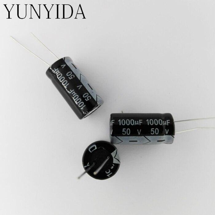 Aluminum Electrolytic Capacitor 50V  1000UF  10PCS