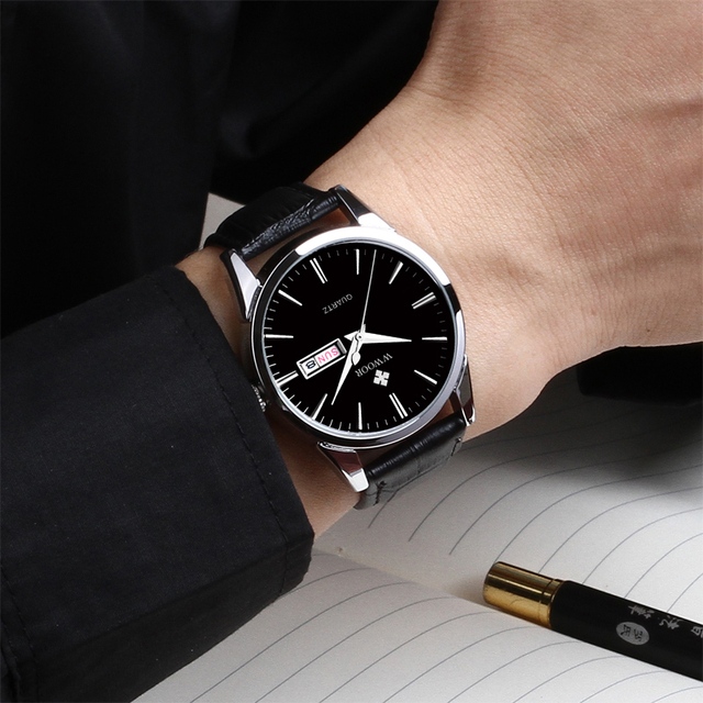 WWOOR Unisex Luxury Hour Date Montre Homme Quartz Watches 5