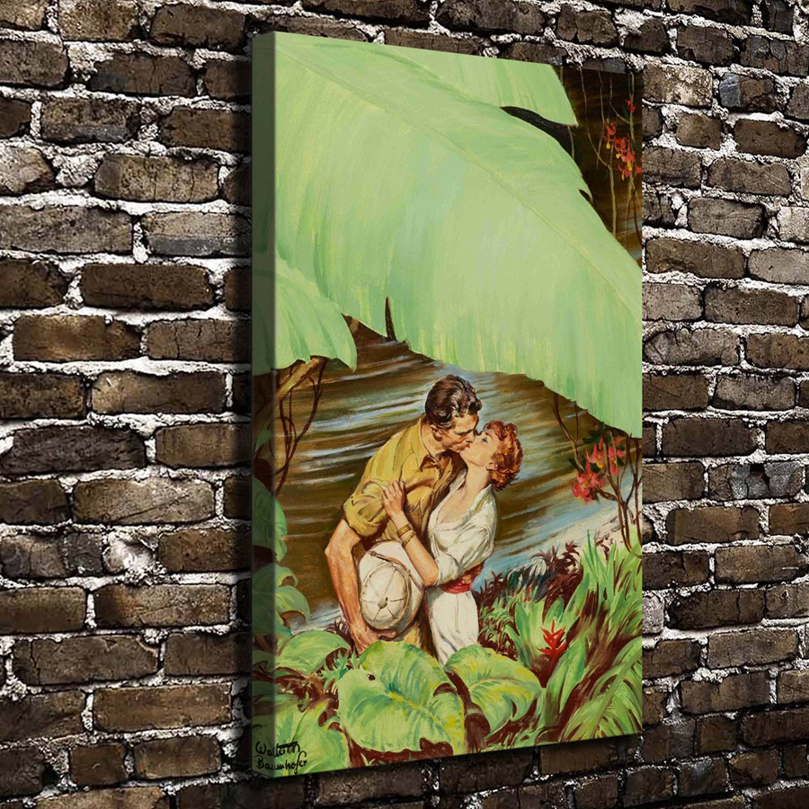 A2304 Sexy American Safari Kiss Figure Scenery. HD Canvas Print Home decoration Living Room bedroom Wall pictures Art painting