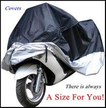 Большой Размер Мотоциклов Обложка Водонепроницаемый Открытый Уф Протектор Мотоцикл Дождь Пылезащитный, чехлы для Мотоциклов, Крышка двигателя Scooter G