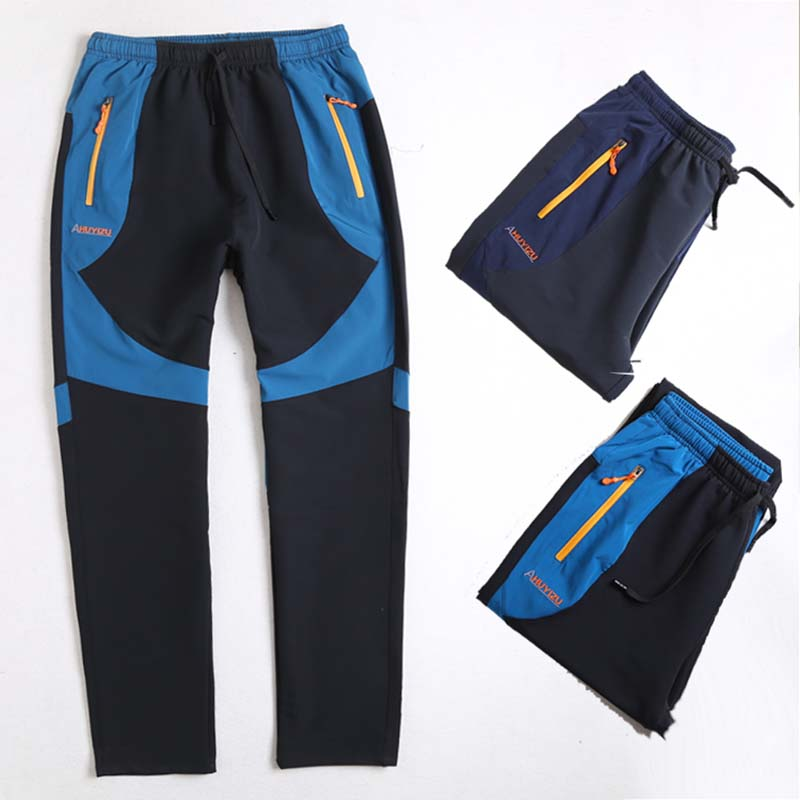 2019 New Summer Men Women Quick-drying Sports Pants Breathable Waterproof Windproof Hiking Trousers Men Cycling Fishing Pants