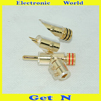 2pcs 20pcs Gaofei Audiophile Banana Connectors Gold Plated Gun Type Banana Plug/Jack Speaker Amplifier Banana Socket