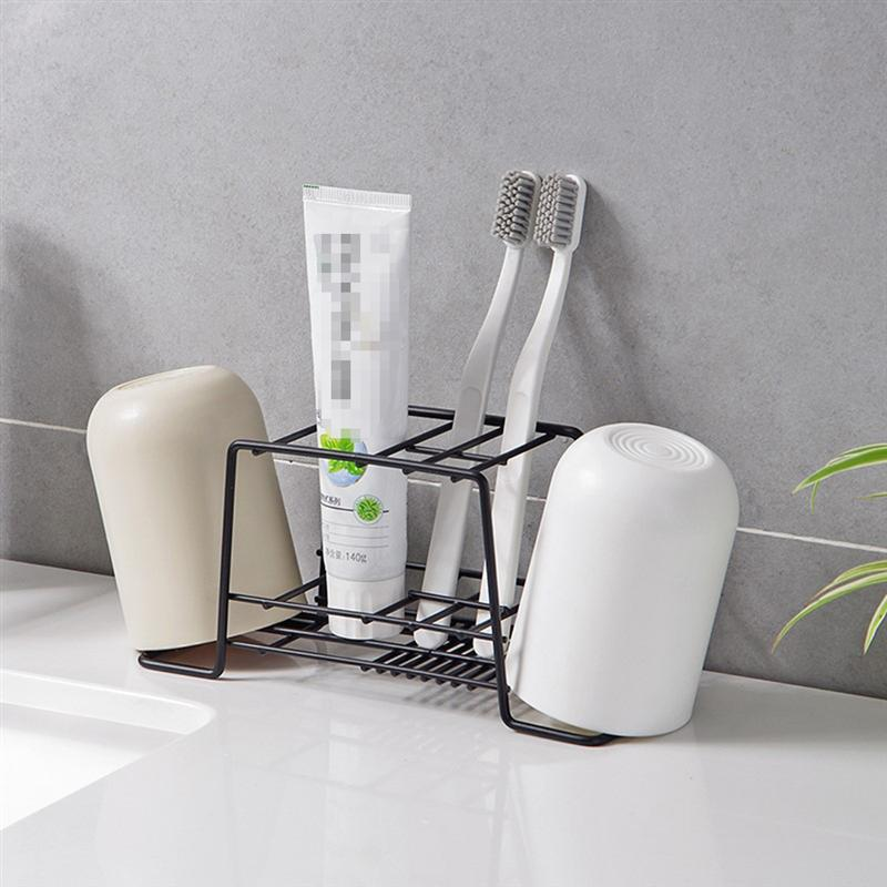 Image 3 - Bathroom Toothpaste Toothbrush Holder Durable Toiletries Storage Rack Shelf Organizer Bathroom Bedroom Kitchen Accessories-in Toothbrush & Toothpaste Holders from Home & Garden