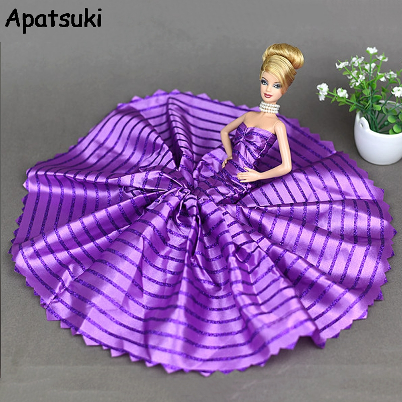 Purple Handmade Clothes For Barbie Doll Gifts For Girls Slim Evening Suit Wedding Fishtail skirt Dress Clothes For 1/6 BJD Doll autonomous design handmade gifts for girls doll accessories evening suit wedding dress clothes for barbie 1 6 doll bbi0048