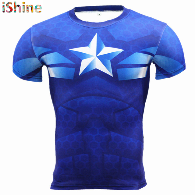 Superman 3D T-shirt Fitness Gym Clothing