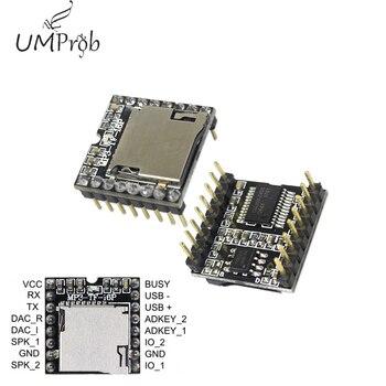Mini Modulo Lettore MP3 con Semplificato di Uscita Altoparlante MP3-TF-16P TF Micro Carta di DEVIAZIONE STANDARD di U Disk per arduino