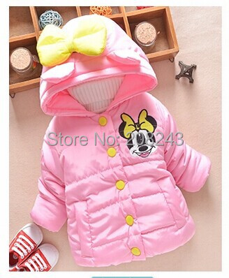 1053e3bdb8c3 Hot sale Minnie mouse Baby Kids Girls Winter warm outwear with a ...