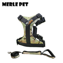 ФОТО merle pet camouflage dog harness adjustable durable comfortable breakaway easy to wear soft with leash walking running a07009