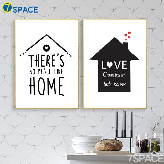 7 Space Modernen Schwarz Weiß Kunstdruck Poster Home Zitate