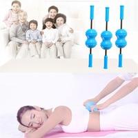 Multi fonction Back Massager Comfortable Silica Gel Body Leg Back Neck Pain Relief Massage Roller Tool T0347SPC