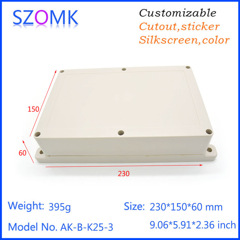 1 piece ip65 wall mounting waterproof plastic enclosure/box for electronic electrical equipment supplies 230x150x85mm