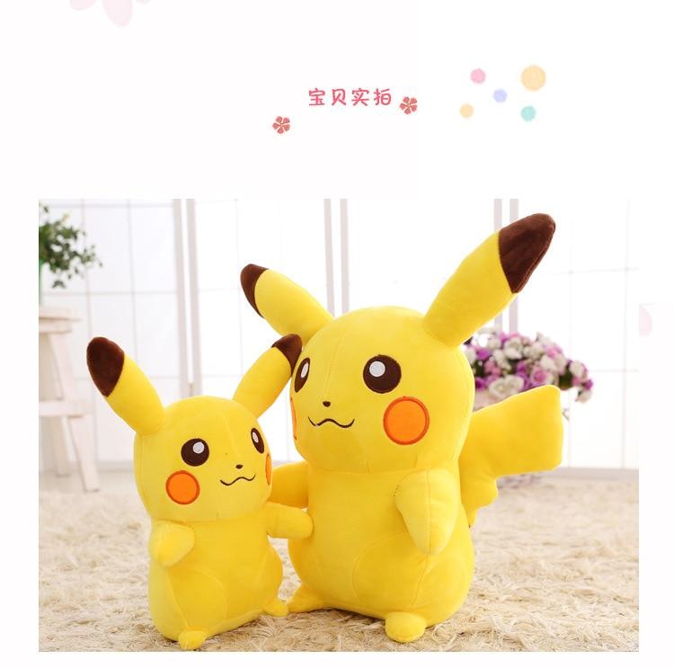 68/90 cm Pikachued nouveau coton peluche poupée doux peluche jouet énergie positive mignon chaud jaune noël cadeau enfant riche expression