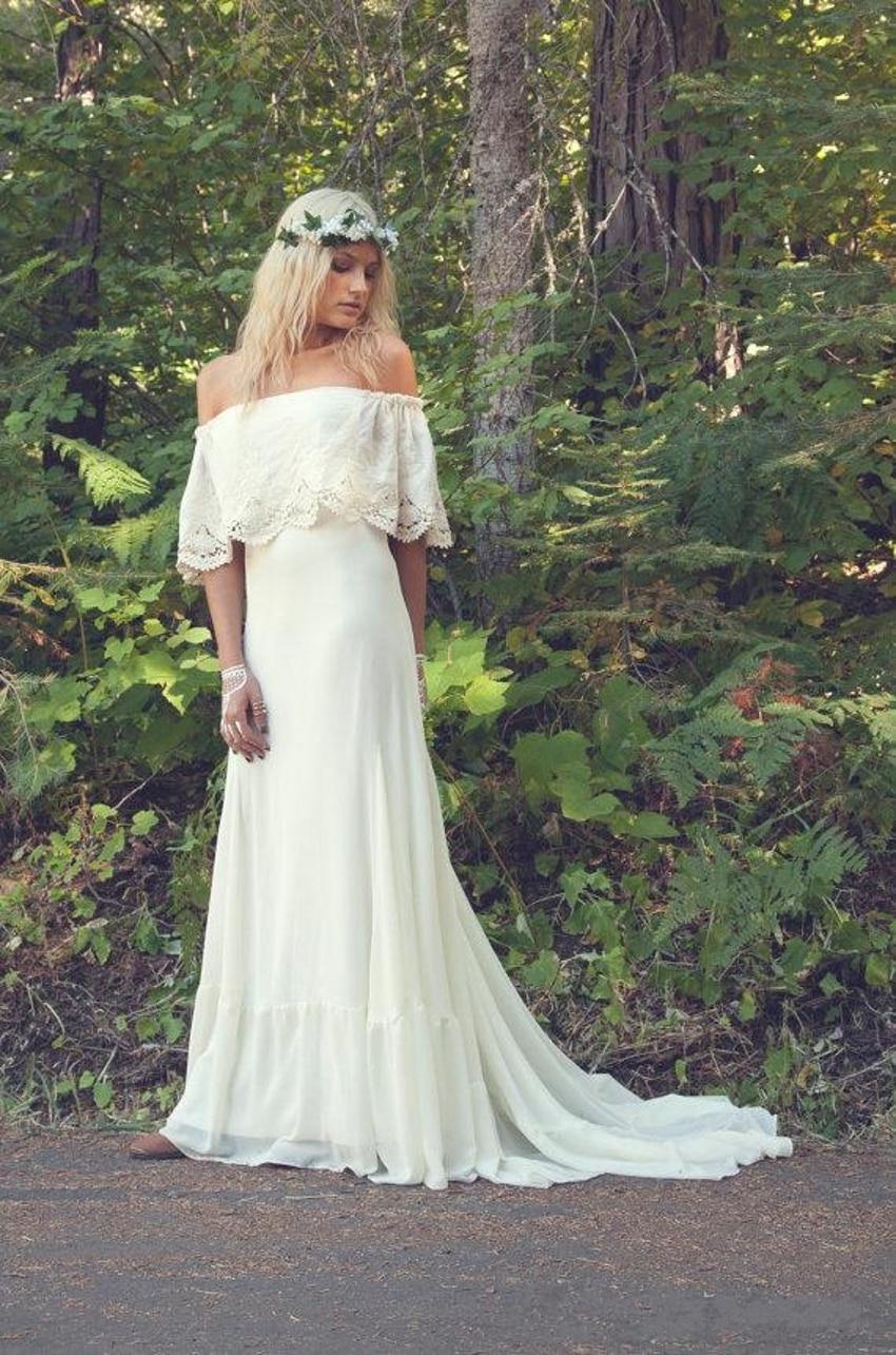 Online get cheap hippie wedding dress for Hippie dresses for weddings