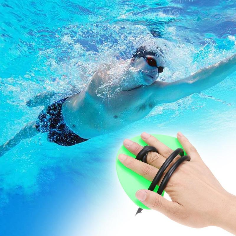 1 Pair Webbed Swimming Gloves Palms Water Skiing Strokes Training Paddles Children Adults Diving Gloves Training Fingerless