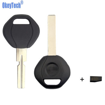 OkeyTech Remote Car Key Shell With ID44 Chip For BMW 3 5 7 Z3 SERIES E36 E34 E38 E39 Replacement Key Fob Blank Blade HU58 HU92 image