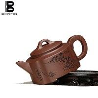 240/350ml Authentic Yixing Purple Clay Teapot Hand Painted Scenery Pattern Raw Ore 7 Holes Art Pot Tea Ceremony Biluochun Kettle