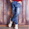 Новое прибытие 2017 детей дети синие джинсовые брюки одежда мальчик детские джинсы брюки для мальчиков одежда для маленьких большой teengers одежда
