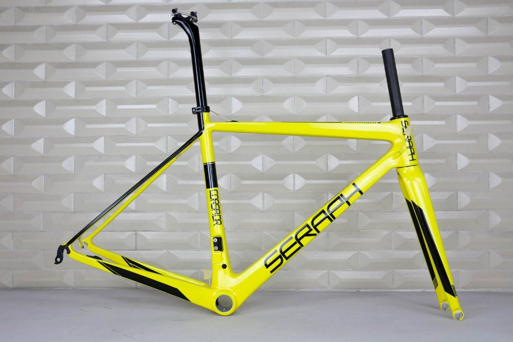 SERAPH Carbon Bicycle Frame Chinese Carbon Fiber Bike Frame,super Light Ridly Carbon Road Bicycle Frame,T1000 Carbon Bike Frames