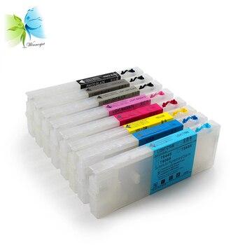 WINNERJET 8 Colors 300ml Refillable Ink Cartridge With Resettable Chip For Epson 4800 4880 Inkjet Printer