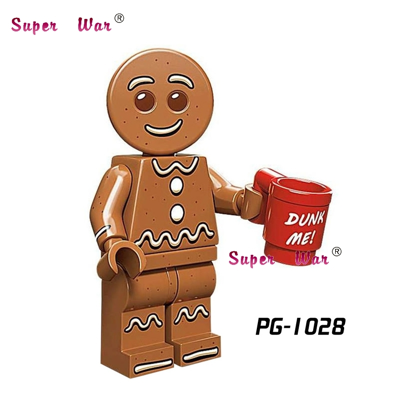 50pcs Star wars super heroes model Series Gingerbread Man Inhumans collectible building block for house hobby games children toy