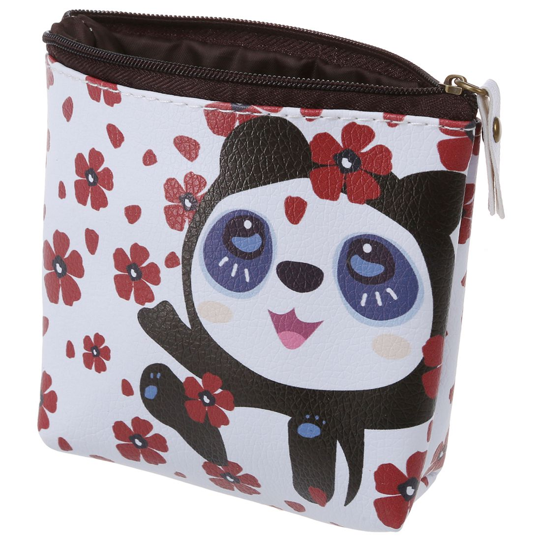 Women Girls Cute Zip Leather Coin Purse Wallet Bag Change Pouch Key Card Holder #17 White