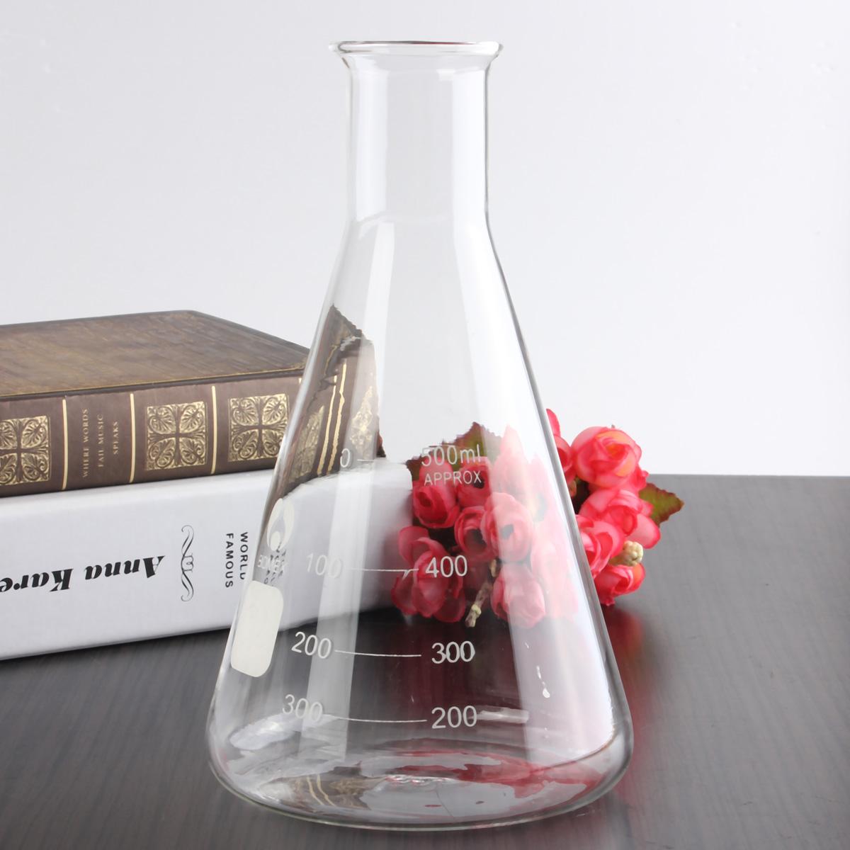 500ml Glass Erlenmeyer Flask Groud Joints 24/29 Laboratory Triangle Flasks(China)