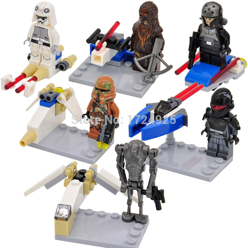 Single Sale Figure Set Stormtrooper Chewbacca Wookiee Building Blocks Models Toys Bela 10384-10389