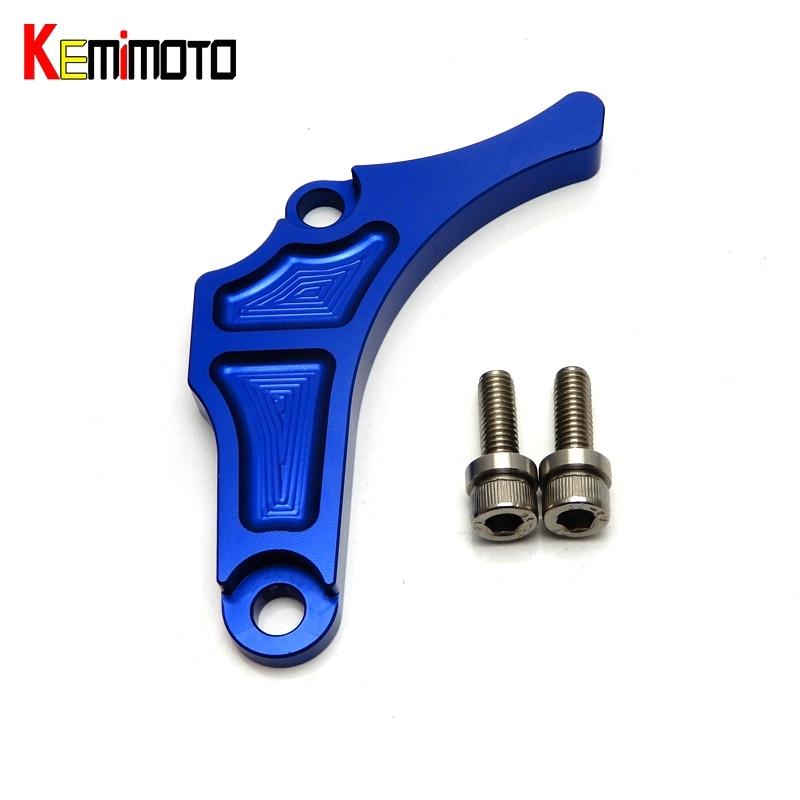 KEMiMOTO CNC Billet Aluminum Case Saver Engine Protector For ATV For Yamaha YFZ 450 YFZ450 Blue 2004-2013