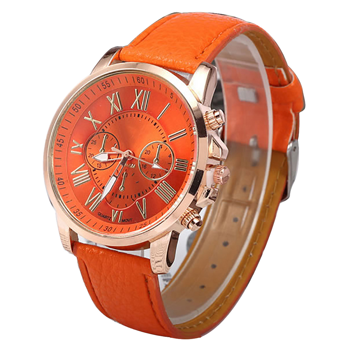 Relogio feminino orange women quartz watch leather sport wristwatch business watches new fashion relogio feminino top luxury hot rigardu fashion female wrist watch lovers gift leather band alloy case wristwatch women lady quartz watch relogio feminino 25