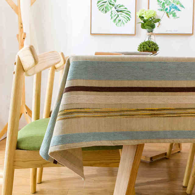Simple and modern striped table cloth art living room coffee table cloth hotel restaurant Idyllic rectangular