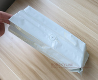 50pcs/lot- Aluminum Foil Side gusset bag with valve 1/2 pound Coffee bean hot seal bag